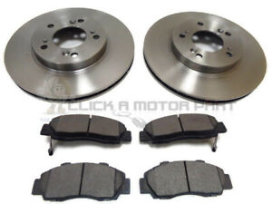 HONDA PRELUDE 1997-01 BRAKE DISC DRILLED GROOVED MINTEX BRAKE PAD FRONT REAR