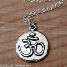Ohm Necklace - 925 Sterling Silver - *NEW* Namaste Yoga Ohm Jewelry Om