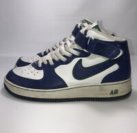 DS Nike Air Force 1 Mid Size 10.5 Style 306352-144 Foliage Royal Pine Green VTG