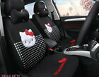 1 Set Luxury Hello Kitty Cute Universal Cartoon Car Seat Cover Cotton Black 02-2