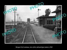 OLD 6 X 4 HISTORIC PHOTO OF MORGAN CITY LOUISIANA RAILROAD DEPOT STATION c1940 1
