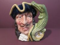 Royal Doulton Captain Hook Small Character Jug D6601 from Peter Pan