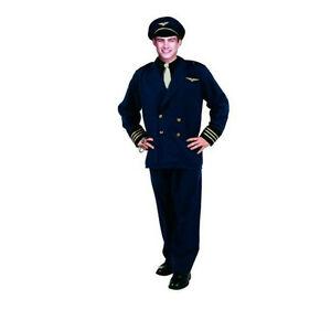 Flight Captain Pilot Adult Costume Standard Size chest 36-40