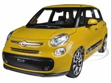 2013 FIAT 500L YELLOW 1/24 DIECAST CAR MODEL BY WELLY 24038