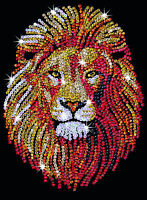 Sequin Art Lion Craft Kit by KSG SA1207