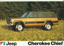 JEEP CHEROKEE CHIEF CAR SALES 'BROCHURE'/SHEET @ EARLY 80's? UK MARKET