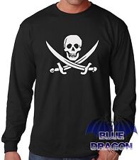 "CAMISETA NEGRA MANGA LARGA""BANDERA PIRATA""LONG SLEEVE T-SHIRT BLACK"