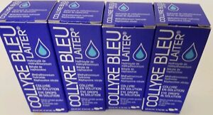 ORIGINAL Collyre Bleu Blue Laiter Eye Drop 10 ml EXP: 07/2023 NEW SEALED 4 PACK