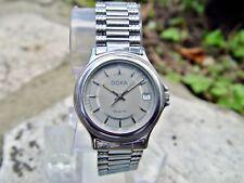 Doxa Quartz 5982 Herren Armbanduhr Edelstahl Datum gebraucht