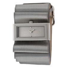 BCBG MAXAZRIA Women's Grey Fabric Strap Watch & Presentation Box - RRP £100