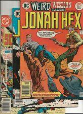 WEIRD WESTERN Tales #37,38,39 Jonah Hex-Origin 1st app. Scalphunter DC 1976 FN