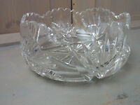 ZZ2 * Gorgeous Clear Crystal Glass Bowl Design Art * Rare Vintage German 1960s
