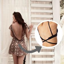 Low Back Bra Strap Converter - CLEAR / BLACK - Adjust Your Bra - Backless