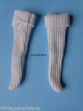 Vintage Barbie Ken Doll White Ribbed Socks Excellent fits Allan Brad