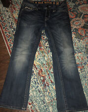 Rock Revival ESSIE BOOT CUT JEANS womens FLAP pockets BLING size 30
