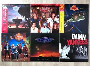 Damn Yankees / Night Ranger Lot of 6 LP Vinyl JAPAN w/OBI Insert NM