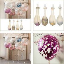"2 x 12"" Large Clear Confetti Filled Balloons Birthday Party Wedding Decorations"