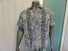 Mens Carbon Rue 21 Short Sleeve Button Front Camp Hawaiian Shirt Size M GUC