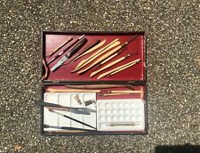Vintage Art Supply Storage case box with Brushes & Other Contents