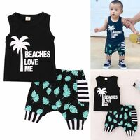 New Newborn Toddler Baby Boy 2Pcs Outfit T-shirt Tops+Shorts Pants Clothes Set