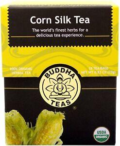 Corn Silk Tea by Buddha Teas, 18 tea bag 1 pack