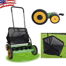 "New Lawn Mower 20"" Classic Hand Push Reel W/ Grass Catcher Adjustable Height 20"""