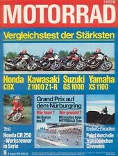 M7816 + Vergleich HONDA CBX vs. YAMAHA XS 1100 und andere + MOTORRAD 16 1978