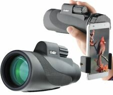 Gosky Titan 12x50 High Power Prism Monocular and Quick Smartphone Holder - Black