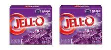 Jell-O Grape Gelatin Dessert Mix 2 Box Pack