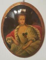 quadro dipinto a mano su legno bombato cornice foglia oro barocca classico nuovo