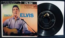 ELVIS PRESLEY~Strictly Elvis~Ep 45+Cardboard Picture Sleeve-RCA VICTOR #EPA-994