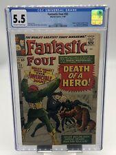 Fantastic Four #32 CGC 5.5 Death of Dr Storm Super-Skrull Appearance (1964)