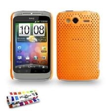 COQUE HTC WILDFIRE S / G13 - L'ALVEOLIA ORANGE SILICONE RIGIDE (TPU)