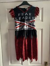 Girls Scare Leader Cheer Leader Halloween Outfit. Used. 9-10
