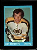 1973-74 TOPPS #89 DON MARCOTTE VGEX BRUINS  *X2250