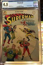 Superman #65 (1950) CGC 4.5 -- O/w to White pgs; 1st Mala, Kizo, and U-Ban