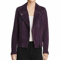 BLANK NYC NEW Women's Genuine Suede Zip-up Motorcycle Jacket Top XS TEDO