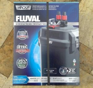 🌟🎈 FLUVAL 407 50-100 US Gal Performance Canister Filter A449 ETEC 🌟