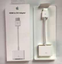 Genuine Apple HDMI to DVI Adaptor Cable Lead MAC MacBook Pro Mac Mini MJVU2ZM/A