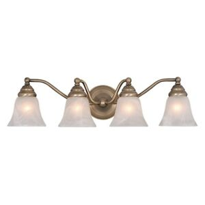 Vaxcel Standford 4L Vanity Light Antique Brass - VL35124A