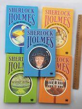 Sherlock Holmes Arthur C Doyle Hardcover Mystery Books 1980's Lot x 5