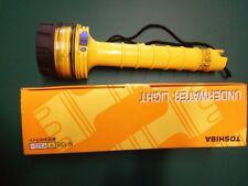 Underwater Diving Light Flashlight Yellow K-138Y 4.8V 4W TOSHIBA Halogen ABS