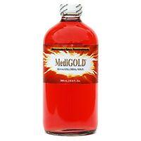 MediGOLD (20 ppm True Colloidal Gold) - 500 mL in clear glass bottle