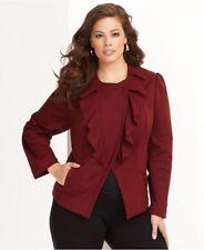INC International Concepts  Asymmetrical Ruffle Front Ponte Knit Jacket Size 1X