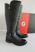 G By Guess Womens Size 7.5 Tall Riding Boots Black Zip Up New!!! GGHEYLO