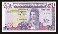1986 Gibraltar / British Administration 50 Pound Pick#24