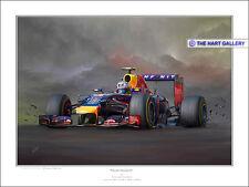 Daniel Ricciardo Redbull Fórmula uno F1 Coche Pintura de Impresión Foto Ltd. Edition