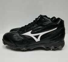 Mizuno, Men's, Black & White, Size 11, Steel tip Bottom, Mid Top, Cleats