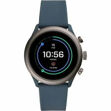 Fossil Sport Smartwatch 43mm Aluminum Gen 4 - Blue Silicone Band - FTW4021 New