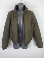 WOMENS SCHOTT DARK BEIGE PADDED CASUAL LIGHTWEIGHT WINTER JACKET COAT M MEDIUM